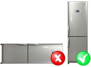перевезти холодильник лежа