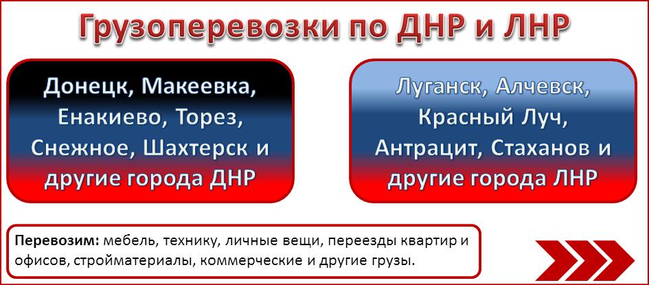 грузоперевозки ДНР ЛНР