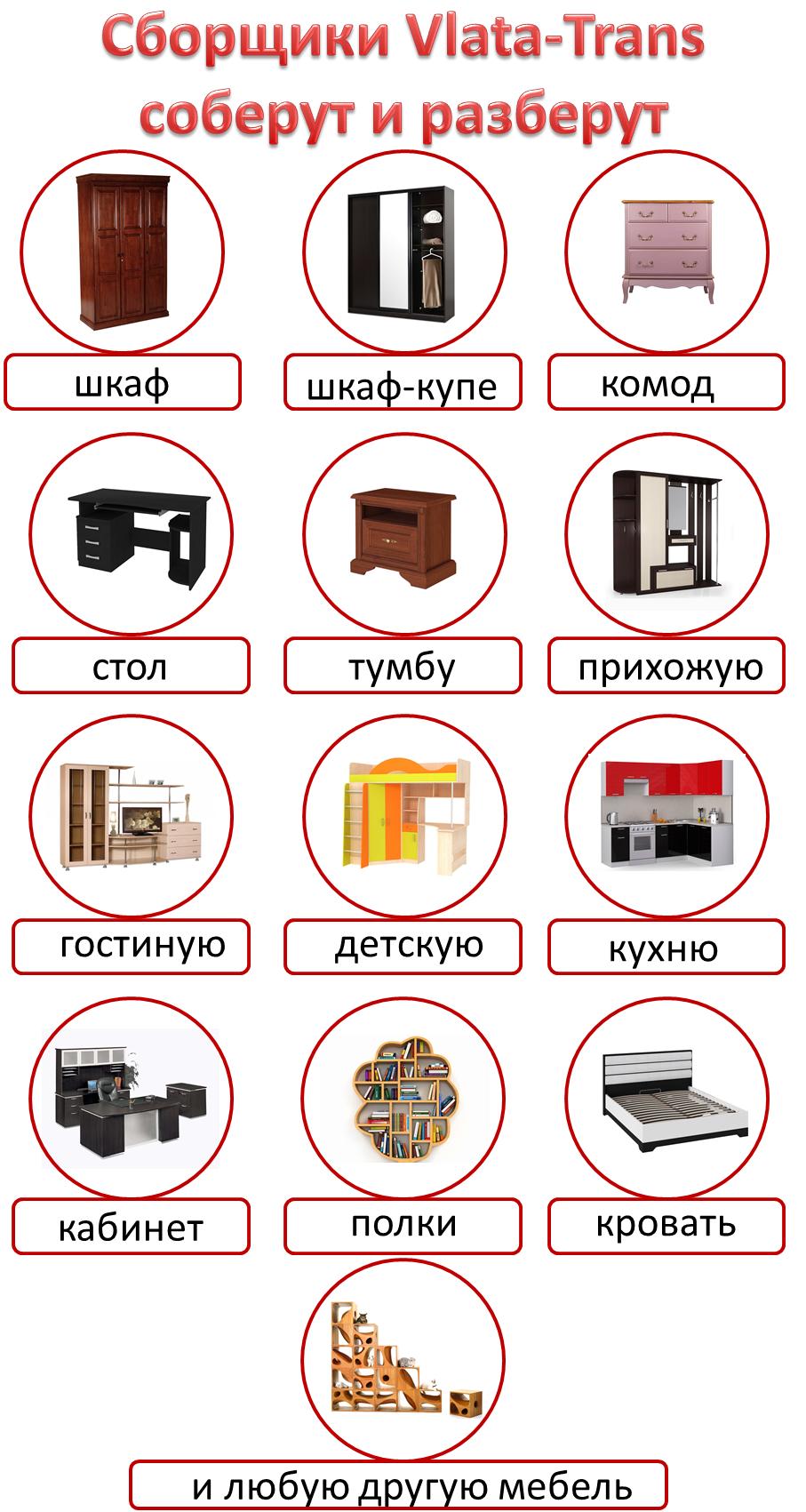 разборка сборка мебели Донецк